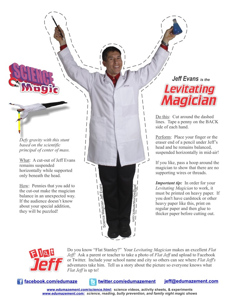 "Make your own ""Levitating Magician"" using the principle of center of mass"